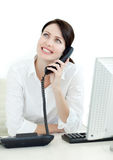 Smiling busineswoman on phone Stock Photos
