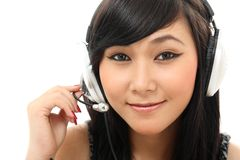Smiling call center Royalty Free Stock Photo
