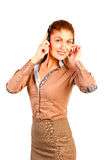 Smiling call center consultant Stock Image