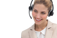 Smiling call center operator Stock Photos