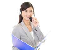 Smiling call center operator Royalty Free Stock Images