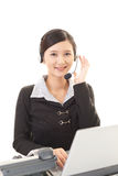 Smiling call center operator Stock Image