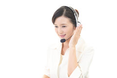 Smiling call center operator Royalty Free Stock Photography