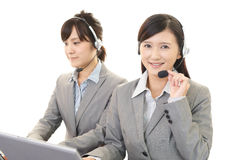 Smiling call center operators Royalty Free Stock Photography