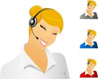 Smiling call center representative Stock Image