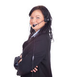 Smiling call center woman Royalty Free Stock Images