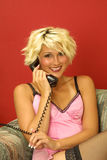 Smiling call for someone special Royalty Free Stock Photos
