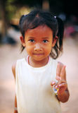 Smiling Cambodian girl Royalty Free Stock Photography