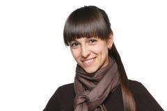 Smiling candid brunette Stock Image