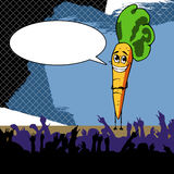 Smiling carrot with speech bubble Royalty Free Stock Image