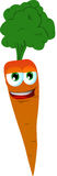Smiling Carrot Royalty Free Stock Photos