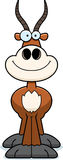 Smiling Cartoon Antelope Royalty Free Stock Images