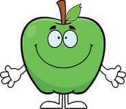 Smiling Cartoon Apple Royalty Free Stock Photography