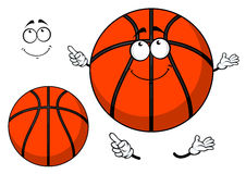 Smiling cartoon basketball ball with a cute grin Royalty Free Stock Image