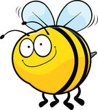 Smiling Cartoon Bee Royalty Free Stock Photos