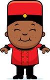 Smiling Cartoon Bellhop Stock Photo
