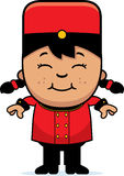 Smiling Cartoon Bellhop Royalty Free Stock Photo