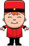 Smiling Cartoon Bellhop Stock Image