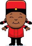 Smiling Cartoon Bellhop Royalty Free Stock Photos