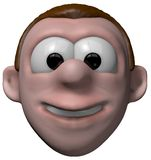 Smiling cartoon boy Stock Images