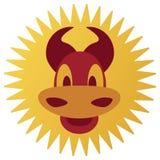 Smiling cartoon bull Royalty Free Stock Photography