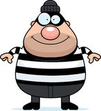 Smiling Cartoon Burglar. A cartoon illustration of a burglar smiling Stock Photography