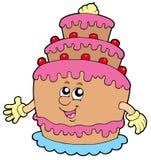 Smiling cartoon cake Royalty Free Stock Photography