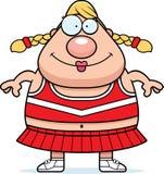 Smiling Cartoon Cheerleader Stock Photo