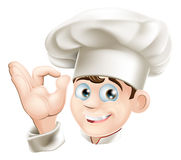 Smiling cartoon chef Royalty Free Stock Images
