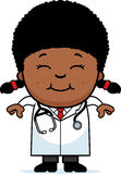 Smiling Cartoon Child Doctor Royalty Free Stock Photo