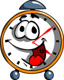 Smiling cartoon clock Royalty Free Stock Photography