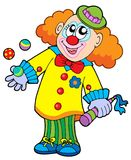 Smiling cartoon clown Stock Image