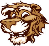 Smiling Cartoon Cougar Mountain Lion MascotGraphic Stock Photography