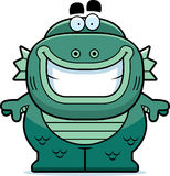Smiling Cartoon Creature. A cartoon illustration of a fish creature smiling Royalty Free Stock Photos