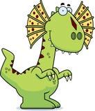 Smiling Cartoon Dilophosaurus Stock Images