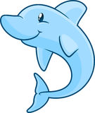 Smiling cartoon Dolphin. Smiling cartoon  Dolphin illustration Royalty Free Stock Images