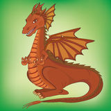 Smiling cartoon dragon Stock Photography