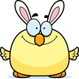 Smiling Cartoon Easter Bunny Chick. A cartoon illustration of an Easter bunny chick smiling Royalty Free Stock Photos