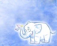Smiling cartoon elephant Stock Image