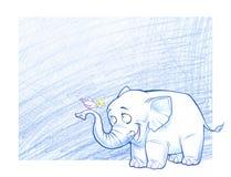 Smiling cartoon elephant Stock Photo