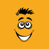 Smiling cartoon face Royalty Free Stock Image