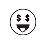 Smiling Cartoon Face People Emotion Show Tongue Icon Stock Photo