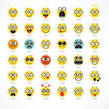 Smiling Cartoon Face Positive People Emotion Royalty Free Stock Images