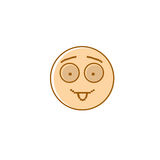 Smiling Cartoon Face Show Tongue Positive People Emotion Icon Royalty Free Stock Photo