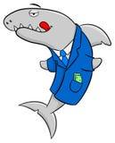 Smiling cartoon financial shark. Vector illustration of a smiling cartoon financial shark Stock Photography