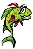 Smiling cartoon fish Royalty Free Stock Photos