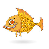 Smiling cartoon fish Stock Image