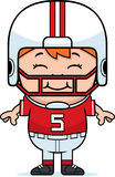 Smiling Cartoon Football Stock Photography