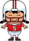Smiling Cartoon Football Royalty Free Stock Photography