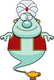 Smiling Cartoon Genie Royalty Free Stock Photo